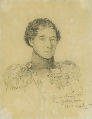 Orest Adamovich Kiprensky. Portrait of Lieutenant Nikolai Petrovich Epanchin