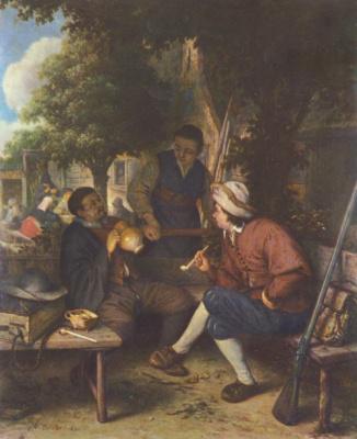 Адриан Янс ван Остаде. Отдыхающий путник