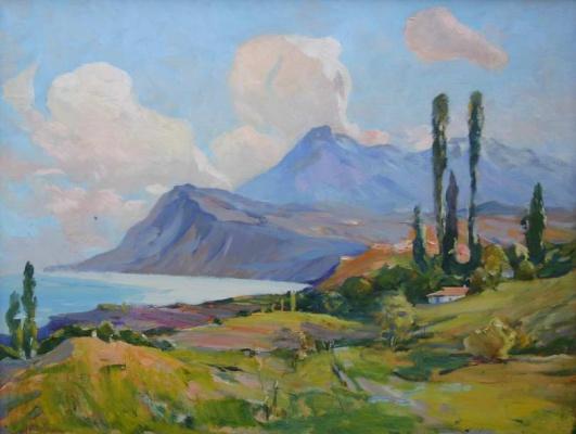 Николай Петрович Чуприна. Полдень в Коктебеле (Кара-Даг)