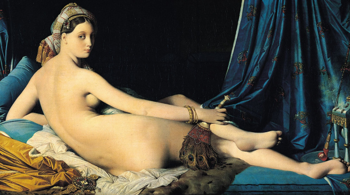 Jean Auguste Dominique Ingres. Large odalisque