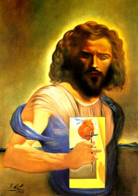 Salvador Dali. Sacred heart of Jesus