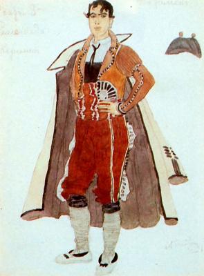 "Alexander Yakovlevich Golovin. Remendado. Costume design for the Opera by Bizet ""Carmen"""