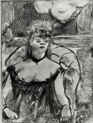 Эдгар Дега. Проститутка в кресле