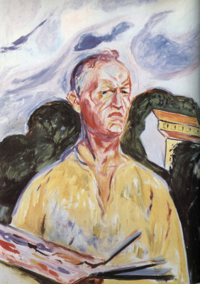 Edvard Munch. Self-portrait in Eckel