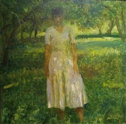 Татьяна Ниловна Яблонская. В саду