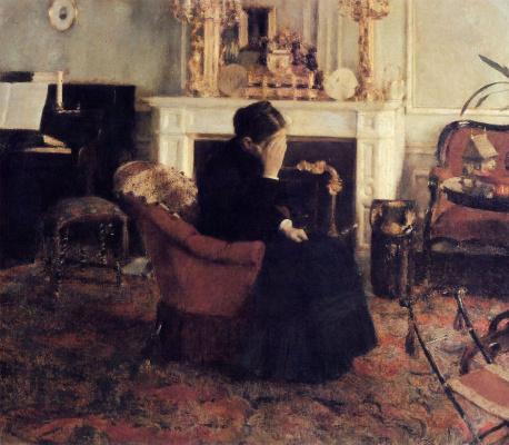 Fernand Knopf. Listening to Schumann