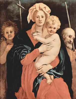 Jacopo Pontormo. Holy Family with John the Baptist