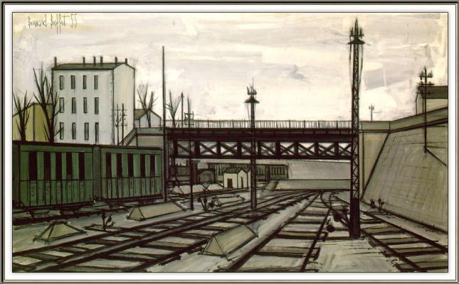 Bernard Buffett. Railroad