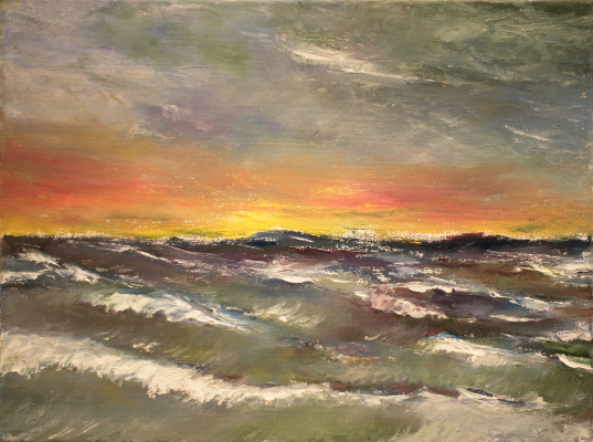 Albert Safiullin. Stormy sunset
