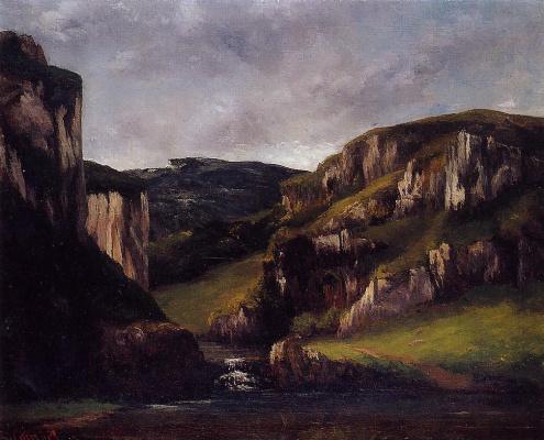 Gustave Courbet. Cliffs near Ornans