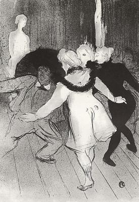 Henri de Toulouse-Lautrec. The Folies Bergere