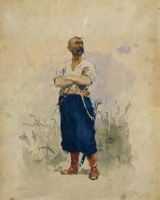 Илья Ефимович Репин. Запорожец