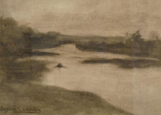 Eugene Carrier. Landscape with a river