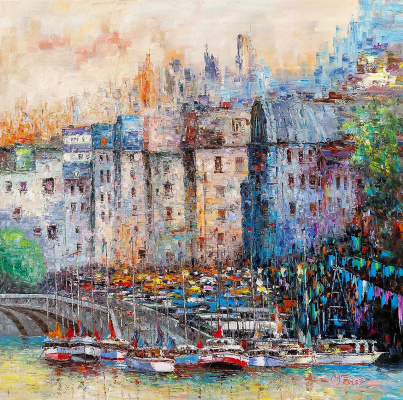 (no name). City. Multicolored