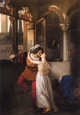 Romeo and Juliet's farewell kiss