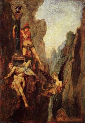 Gustave Moreau. Sphinx destruction