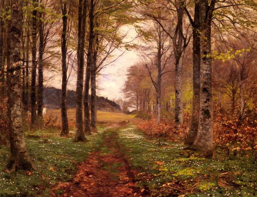 Ганс Андерсон Брендекилд. Лесной пейзаж