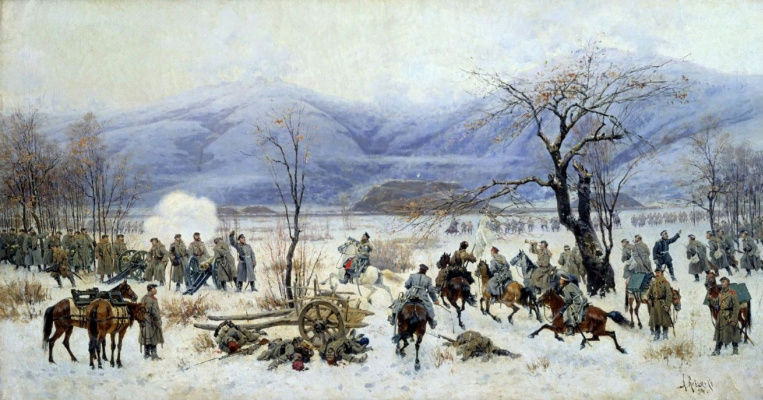 Alexey Danilovich Kivshenko. The battle of SHIPKA-Sheinovo, 28 December 1877