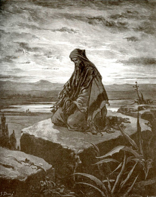 Paul Gustave Dore. Illustration to the Bible: the prophet Isaiah