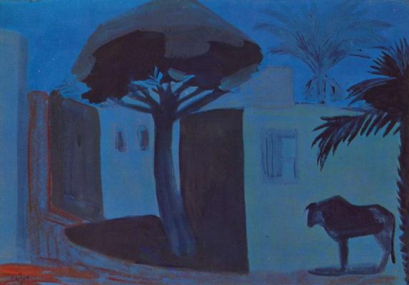 Мартирос Сергеевич Сарьян. Ночной пейзаж. Египет