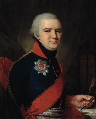 Vladimir Lukich Borovikovsky. Portrait of Dolgoruky.