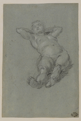 Tintoretto (Domenico Robusti). Reclining nude woman