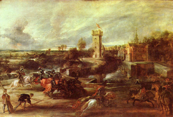 Peter Paul Rubens. Tournament near the castle