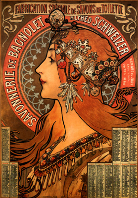Alfons Mucha. Advertising soap Bagnolet