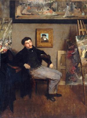 Эдгар Дега. Портрет Джеймса Тиссо