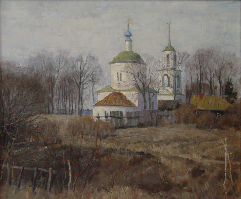 Борис Петрович Захаров. Сошёл снег в Боровске.