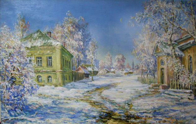Victor Vladimirovich Kuryanov. Winter in old town