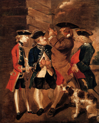 Joshua Reynolds. Portrait of Charles Turner, Sir William Lowther, Joseph Leeson and Monsieur Hue