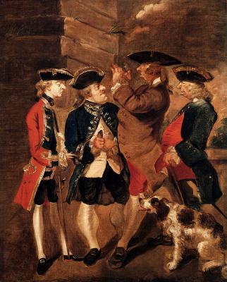 Joshua Reynolds. Portrait of Charles Turner, Sir William Lowther, Joseph Leeson and Monsieur Hue