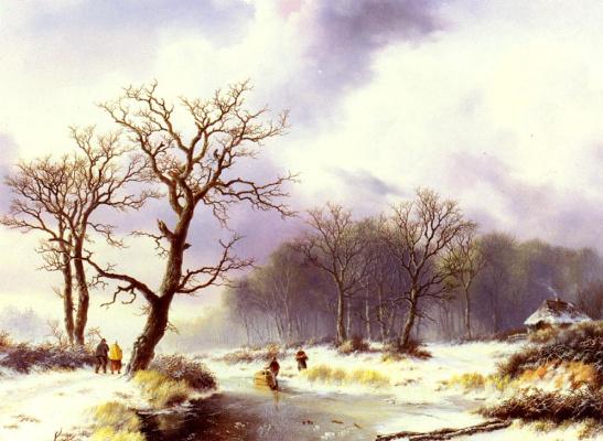Виллем Бодеманн. Зимний пейзаж