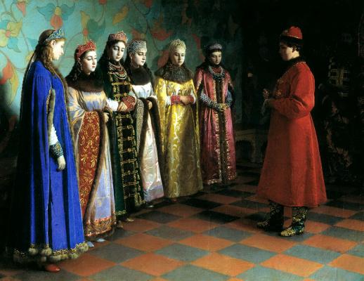 Grigory Sedov. The choice of the bride Tsar Alexei Mikhailovich