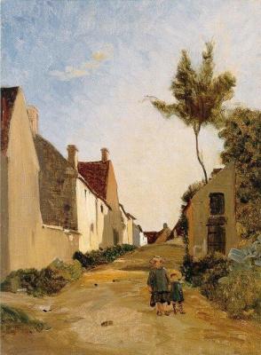 Фредерик Базиль. Улица в деревне