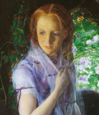 Arthur Hughes. April love. Fragment