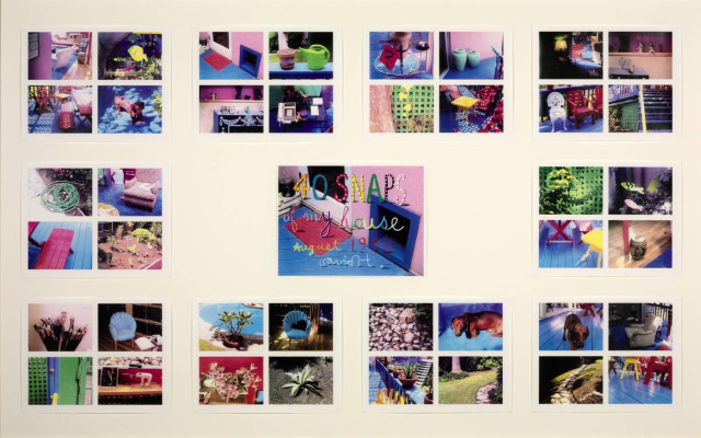 Дэвид Хокни. 40 моментальных снимков моего дома, август 1990