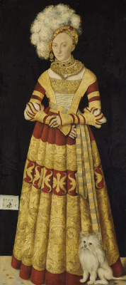 Lucas Cranach the Elder. Portrait of the Duchess Katharina of Mecklenburg