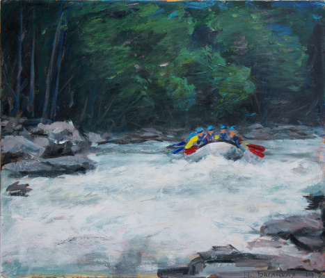 Natalia Bagatskaya. Rafting