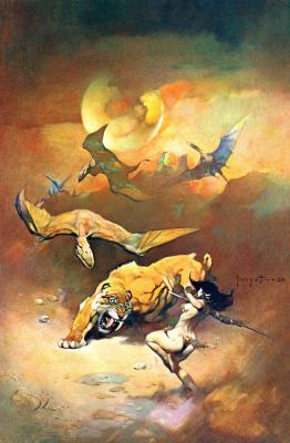Фрэнк Фраззетта. Летающие рептилии