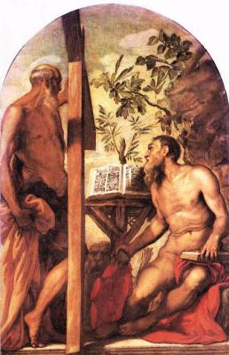 Якопо Тинторетто. Святой Иероним и святой Андрей