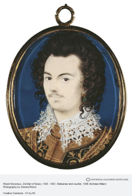 Nicholas Hilliard. Portrait of Robert Devereux, second Earl of Essex
