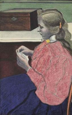 Leon Spilliaert. Rachel (the wife of the artist) at work