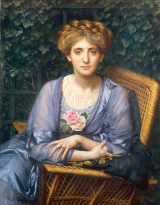 Edward John Poynter. Portrait of lady Markham