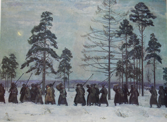 Eugene Alexandrovich Kazantsev. The soldiers 1941