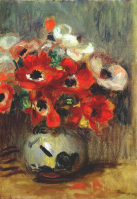 Pierre-Auguste Renoir. Anemones