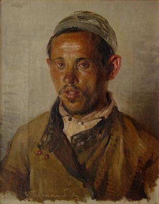 Илларион Михайлович Прянишников. Татарин. 1880 Этюд