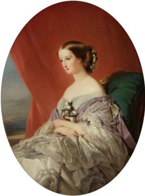 Franz Xaver Winterhalter. The Empress Eugene. Sketch