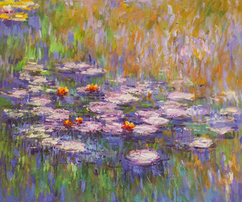 "Savely Kamsky. ""Water Lilies"", N23, a copy of Claude Monet's painting"
